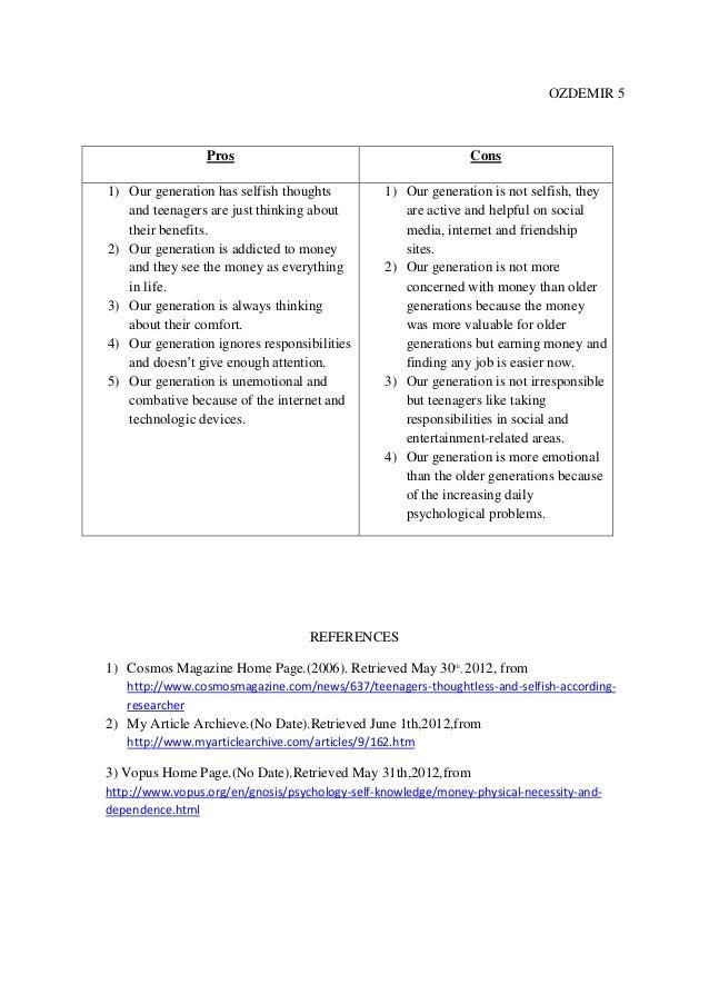 pro con essay sample
