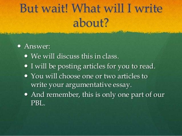 argumentative essay articles