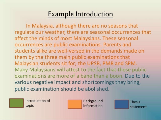 should public examinations in malaysia be abolished essay Read this essay on problems encountered in local government reports and examinations abound student's life especially during college verve.
