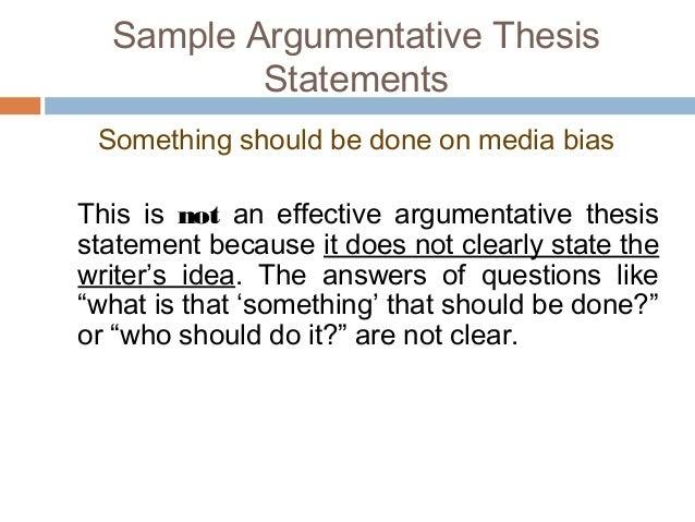 an argumentative thesis