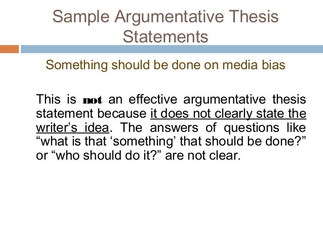 11. Sample Argumentative Thesis ...