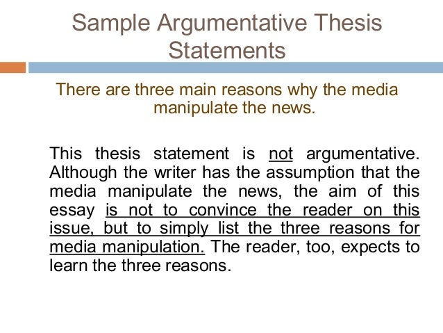 sample argumentative