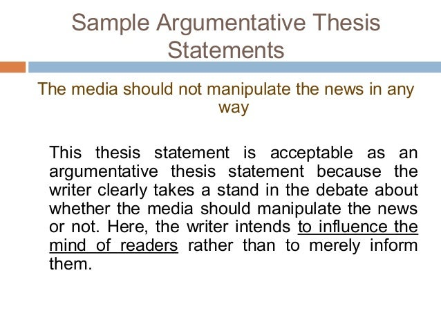 thesis and argument essay