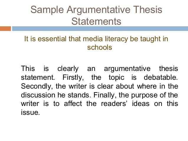 argumentative essay  decide if the following statements are argumentative
