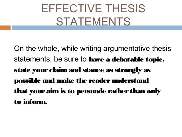 topics to write a argumentative essay on