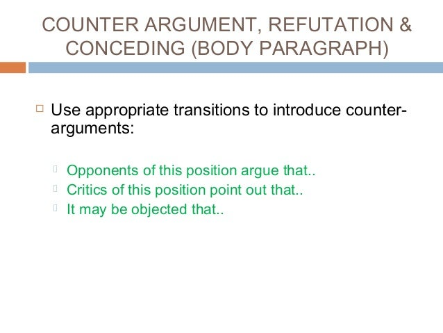 argumentative essay example of counter argument