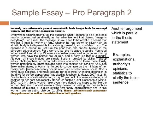 advertising essay sample