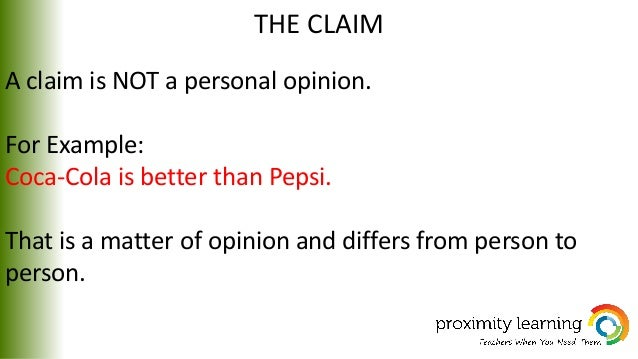 argumentative essay 6 the claim