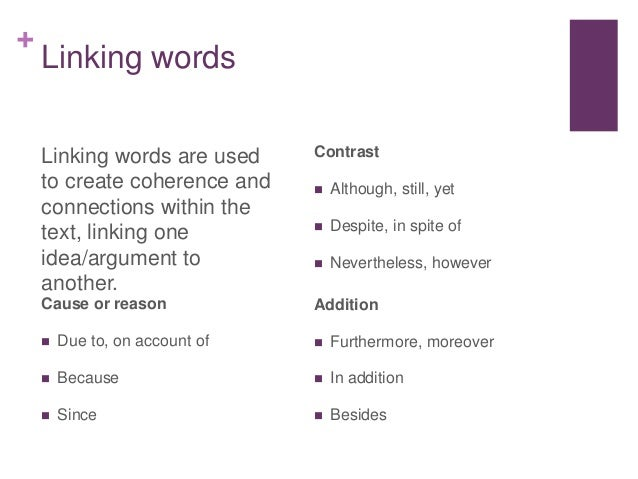 Academic writing help linking words opinion words register