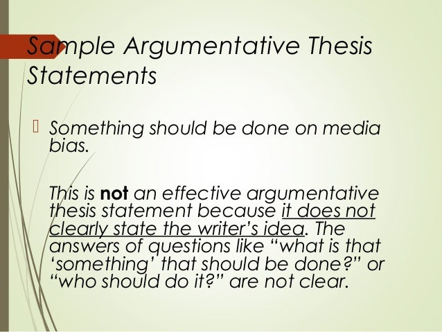 argumentative thesis topics