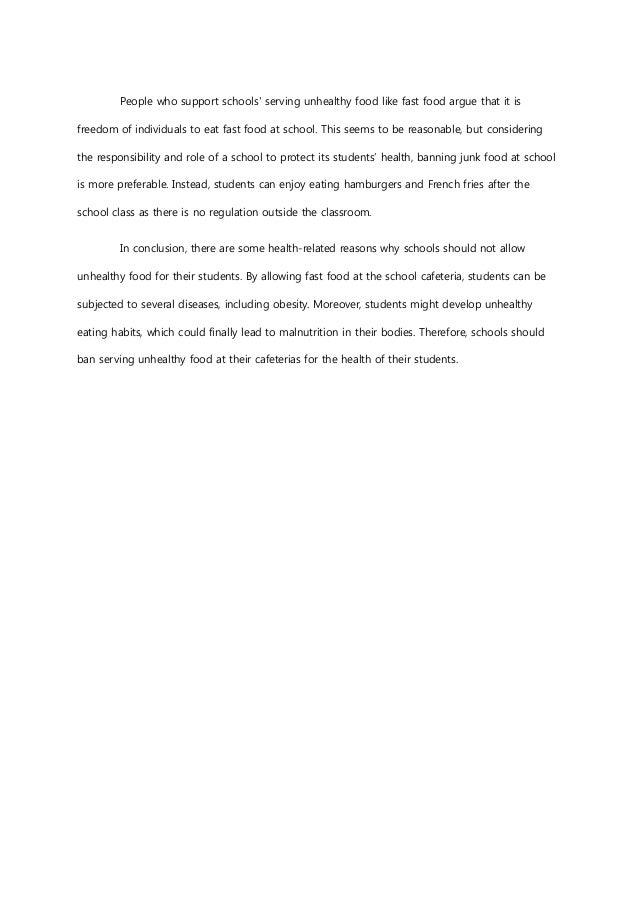 cafeteria observation essay