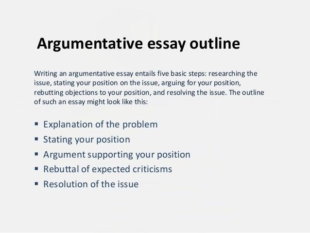 starting off an argumentative essay