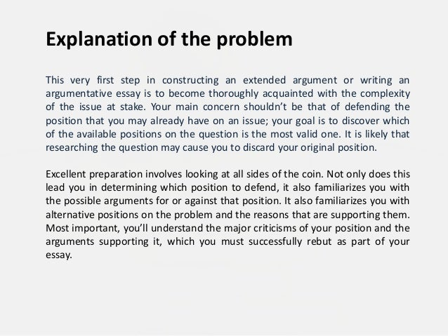 block pattern argument essay Example of argumentative essay block.