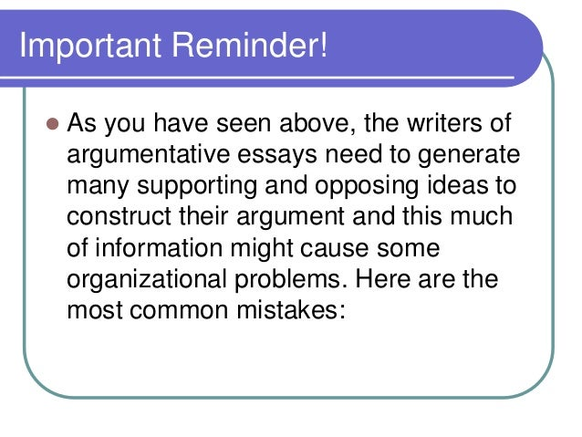 Argumentative essay and advertising