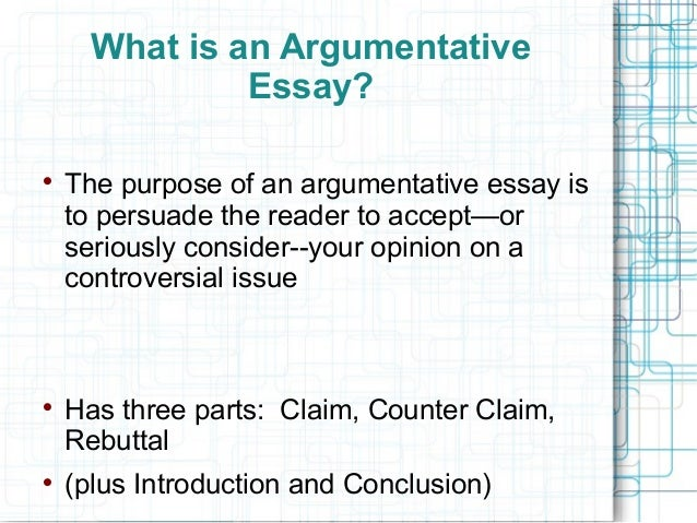 What is an argument essay