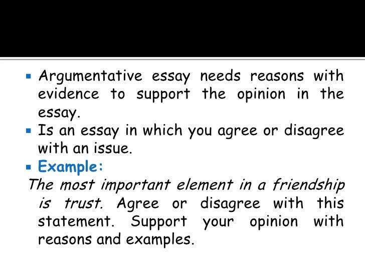 Argumentative essay block organization