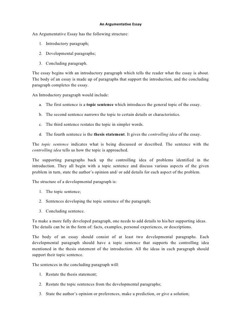 Persuasive essay organization