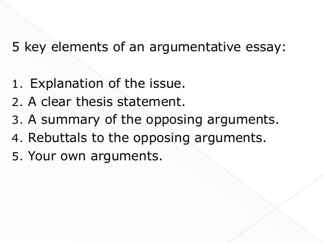 Argumentative Essays Writing