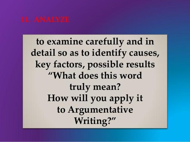 Argumentative vocabulary essay