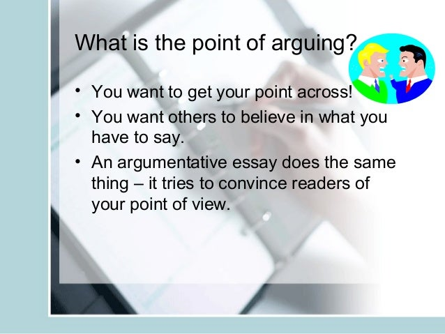 Teaching argumentative essay