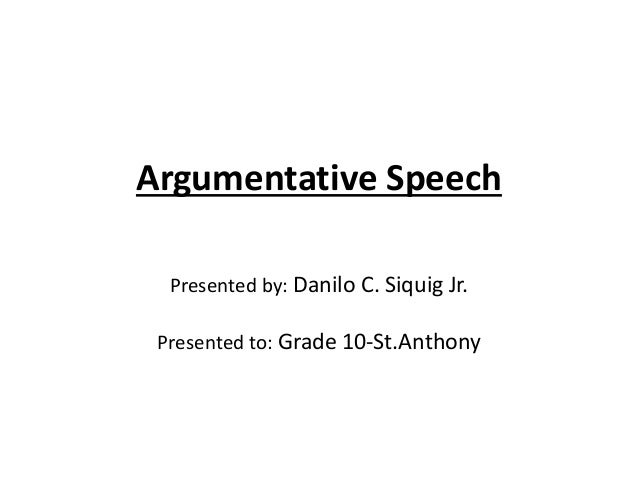argument essay anthony sexion