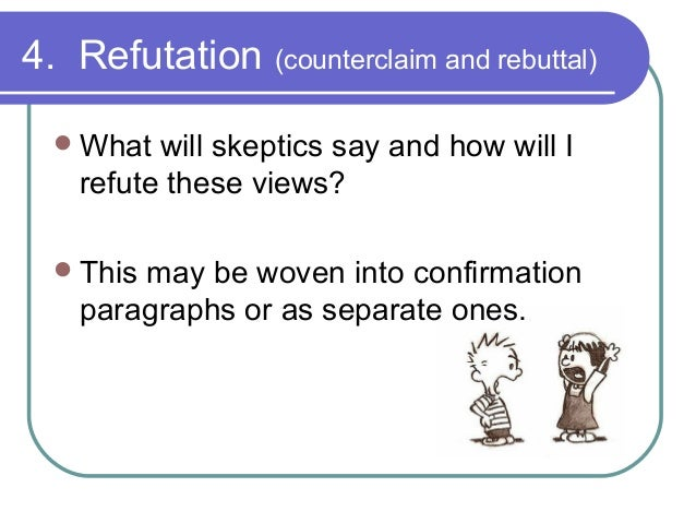 what does rebuttal mean in a persuasive essay
