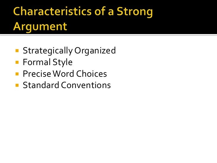 argumentative writing characteristics