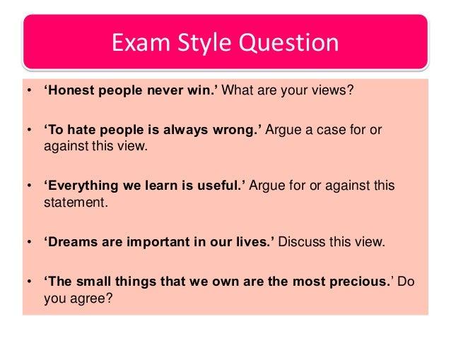 argumentative essay styles