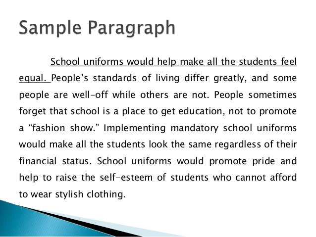 implementing uniforms in schools essay The relationship of school uniforms to student attendance, achievement and discipline by russell edward sowell  implement a testing program which is aligned to.