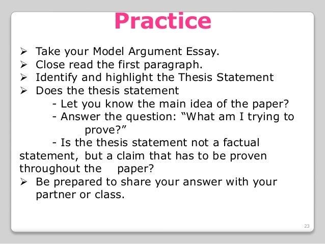 good topics for argument essay