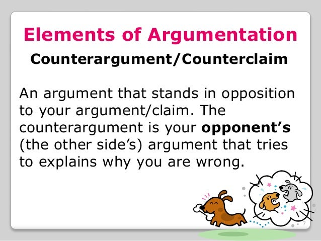 counterclaim in an argumentative essay Argumentative worksheets what is argumentative writing an argument is an exchange of diverging or opposite views, typically.
