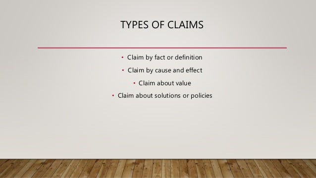 argument essay 5 types of claims