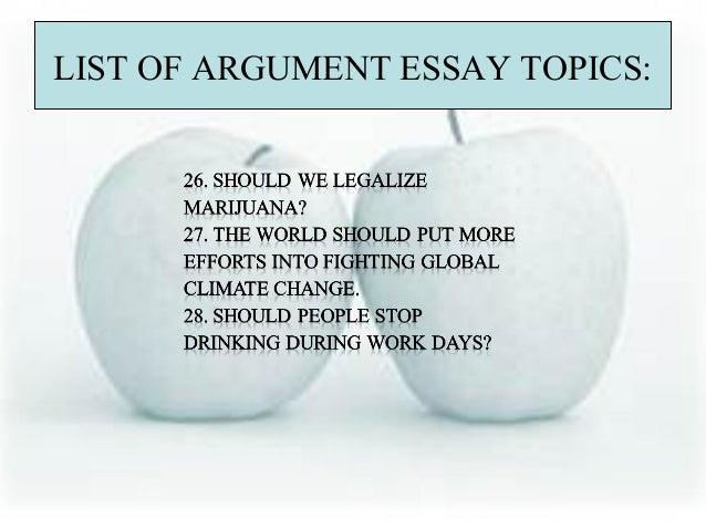 Argument essay topic