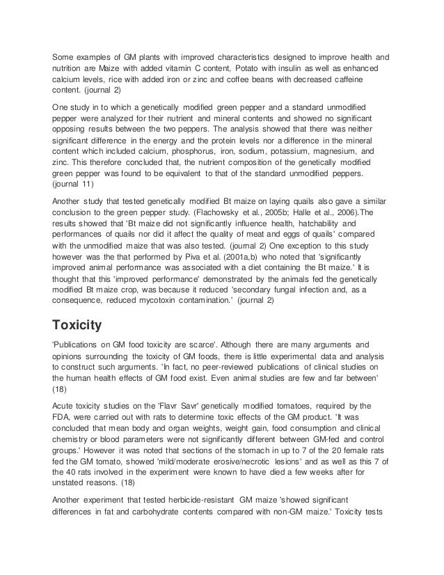 Genetically modified food term paper