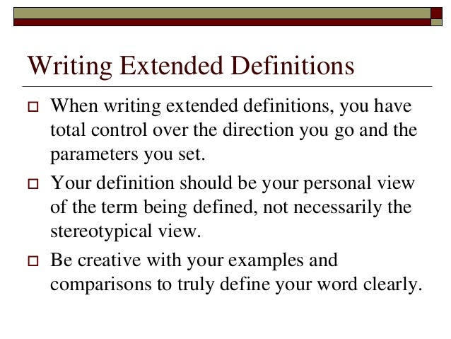 over extended definition