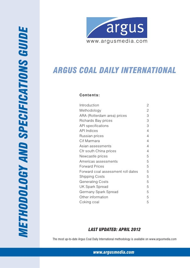 METHODOLOGY AND SPECIFICATIONS GUIDE                                                                 w w w. a r g u s m e ...
