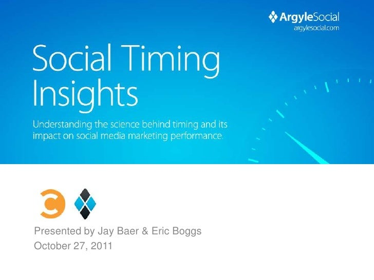 Presented by Jay Baer & Eric BoggsOctober 27, 2011                         #socialtiming
