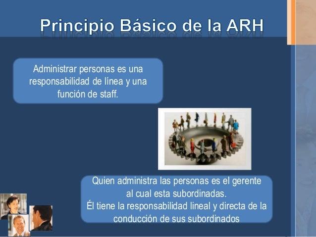 Responsabilidad de Línea y Función Staff en la ARH  Slide 3