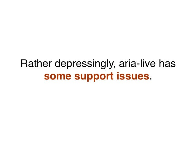 Rather depressingly, aria-live has some support issues.