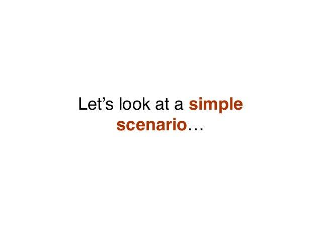 Let's look at a simple scenario…