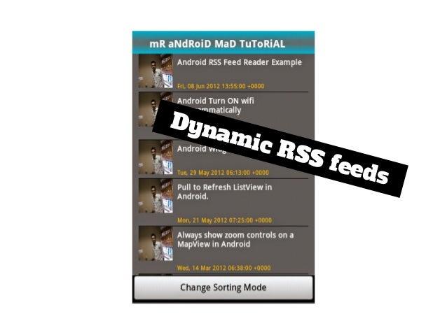 Dynamic RSS feeds