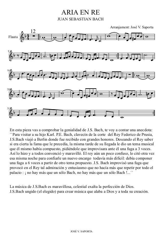 En esta pieza vas a comprobar la genialidad de J.S. Bach, te voy a contar una anecdota: ``Para visitar a su hijo Karl. P.E...