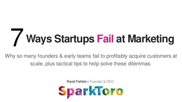Why so many founders & early teams fail to profitably acquire customers at scale, plus tactical tips to help solve these d...