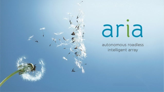 ariaautonomous roadless   intelligent array
