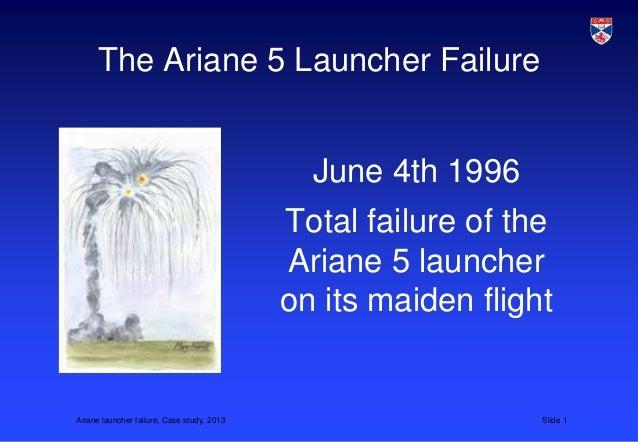 The Ariane 5 Launcher Failure                                              June 4th 1996                                  ...