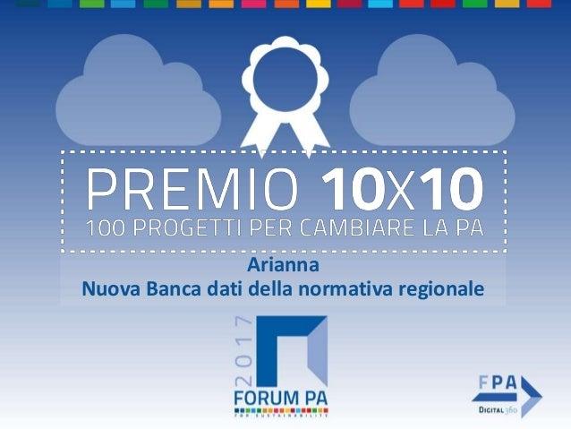 Arianna Nuova Banca dati della normativa regionale
