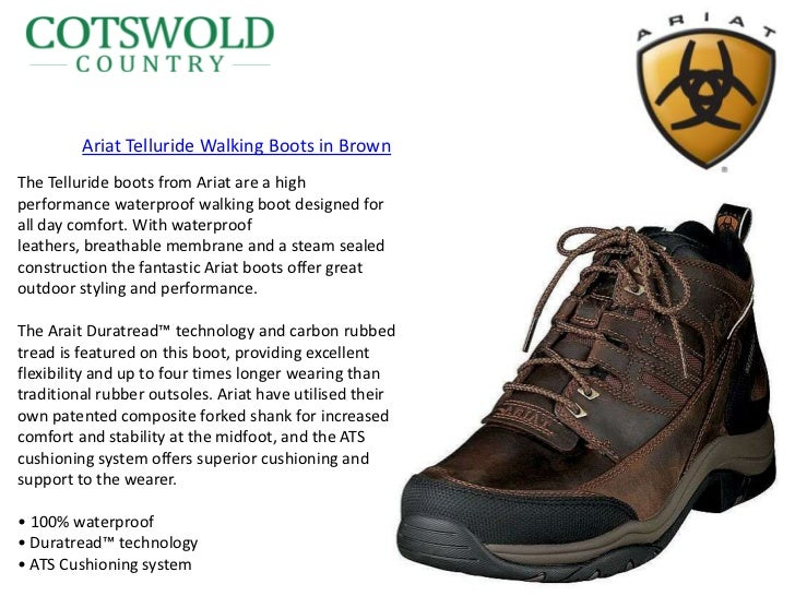 Ariat footwear at cotswold country