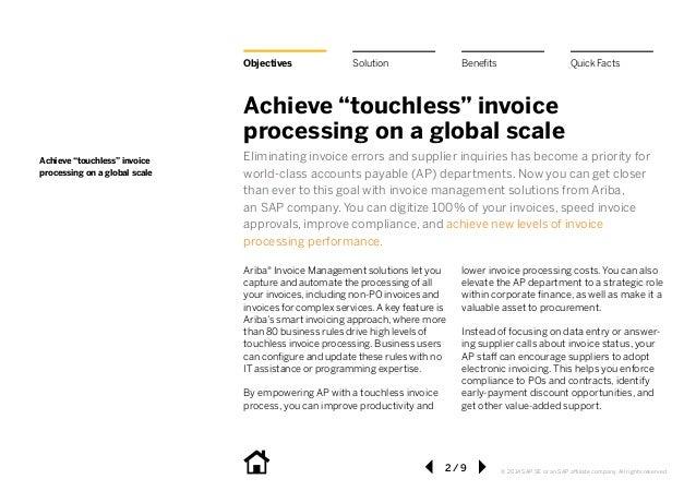 Ariba Invoicemanagement - Speed invoice