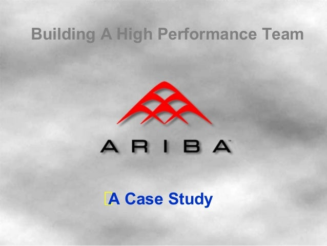 Building A High Performance Team A Case Study