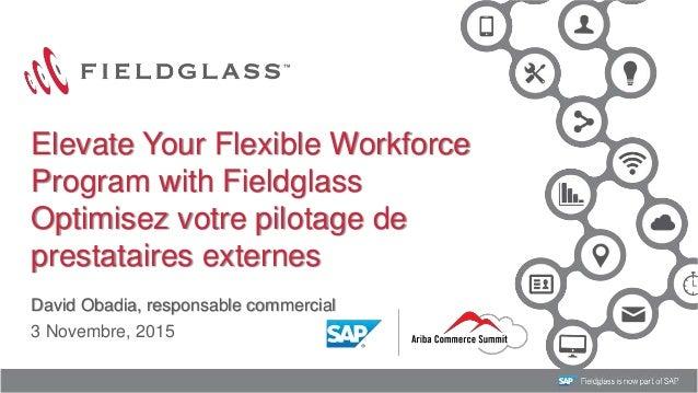 1 David Obadia, responsable commercial 3 Novembre, 2015 Elevate Your Flexible Workforce Program with Fieldglass Optimisez ...